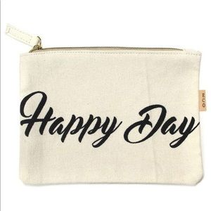 ECO by Love of Fashion Happy Day Zippered Pouch🖤
